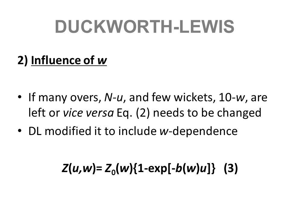 Z(u,w)= Z0(w){1-exp[-b(w)u]} (3)